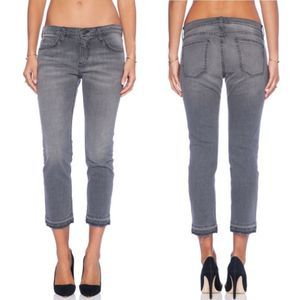 Current Elliott Cropped Straight Jeans